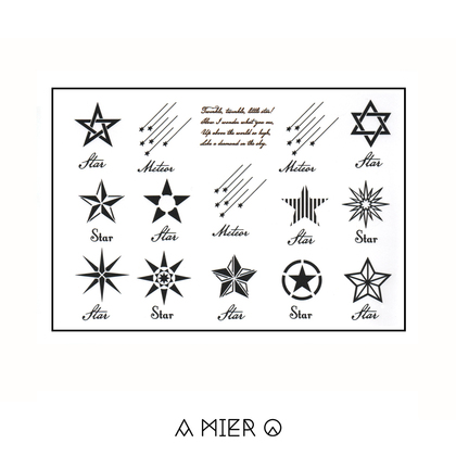 Temporary Tattoo - Meteor and Star