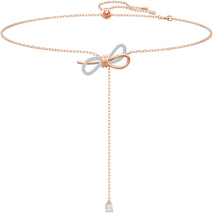 Knotted Y-shaped Rose Gold Necklace