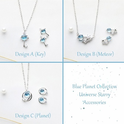 Universe Blue Planet Collection Starry Accessories - Necklace