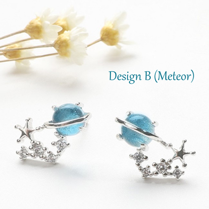 Universe Blue Planet Collection Starry Accessories - Earrings