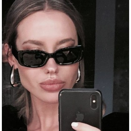 Black Rectangle Sunglasses