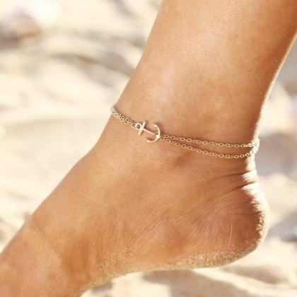 Double Layer Anchor Anklet