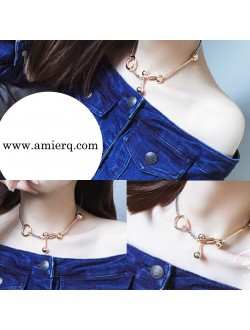 2 Way Double Sided Lock Short Necklace / Bracelet