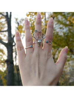 Deer with Turquoise Ring Set